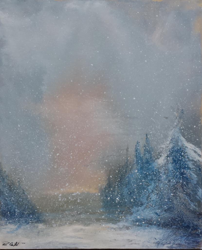 aube neigeuse